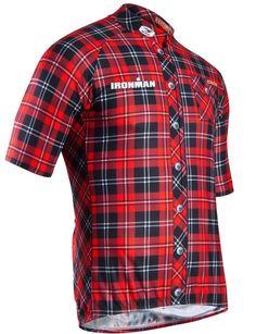 IRONMAN Official Merchandise :: IRONMAN Men's Lumberjack Cycling Jersey
