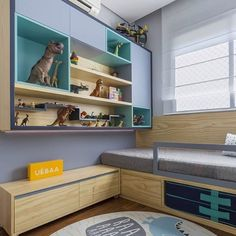 """28 curtidas, 3 comentários - Apartamento F 04 (@apartamentof04) no Instagram: """"Inspiração do Dia: Quartinho de menino super fofo.  #apartamentopequeno #quartoinfantil…"""""""