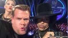 Prince at Brit awards Feb 2014