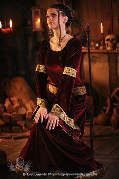 Larp Samt-Kleid Witch of Dawn