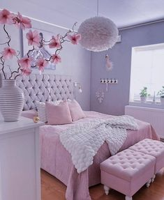 Best Blush Pink And Lovely Bedroom Design Ideas Part 1 ; pink bedroom ideas for women; pink bedroom ideas for kids; pink bedroom ideas for adults; pink bedroom grown up Cute Bedroom Ideas, Cute Room Decor, Girl Bedroom Designs, Design Bedroom, Girls Pink Bedroom Ideas, Bedroom Ideas For Women Cozy, Elegant Girls Bedroom, Small Girls Bedrooms, Girl Rooms
