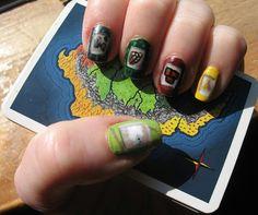 Settlers of Catan nail art.