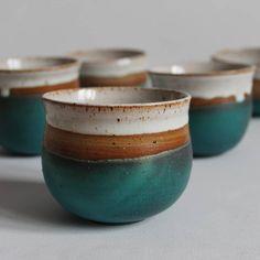 ceramic mugs Hand Sculpted Mugs - Hand Sculpted Mugs - Slab Pottery, Pottery Mugs, Pottery Bowls, Ceramic Pottery, Matcha, Wheel Thrown Pottery, Pottery Designs, Tea Bowls, Ceramic Painting