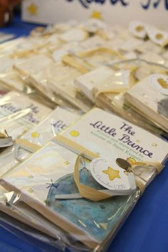 The Little Prince book favors Prince Birthday Theme, Baby Birthday, First Birthday Parties, Birthday Party Decorations, First Birthdays, Party Themes, Party Ideas, The Little Prince Theme, Little Prince Party