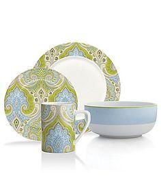 Echo Design Latika Seafoam Dinnerware #Dillards - this matches my bedding :)