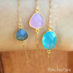 Stackable gem bracelet, dainty bracelet, women fashion, fashion jewelry, chic jewels, gem, soft colors