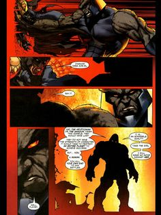 Batman v Darkseid -  After Wonder Woman and Superman both get beaten by Darkseid (a GOD), Batman steps up to the plate - and wins.   Although physically bested by the god, Batman still finds a way to win by playing to his strengths.