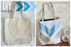 Summer DIY canvas tote bag