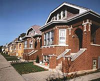 With Chicago bungalows built so close together (gangways only 5 to 15 feet wide), neighbors used to brag that they could borrow a cup of sugar through their windows.