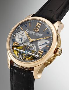 Greubel Forsey AN EXTREMELY FINE AND RARE PINK GOLD DOUBLE TOURBILLON WRISTWATCH WITH 72-HOUR POWER RESERVE INDICATION NO 43 DOUBLE TOURBILLON 30° VISION CIRCA 2010