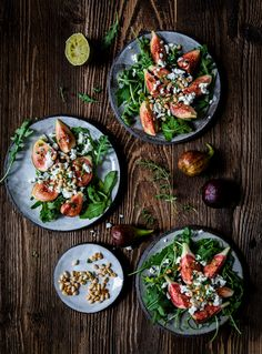 Fig salad, Fotoshootings for Noan. You will find the recipe below Fig Salad, Feta, Ethnic Recipes, Banner, Pine Tree, Easy Meals, Banner Stands, Banners
