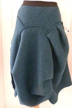 MEGA SALE ZUZA BART CREATION quirky skirt with aysmmetric wool skirt XLARGE SALE | eBay