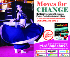 Moves for CHANGE Bwitchs International Bellydance Fusion Festival took place in Baga. To know more on TimelineGoa Magazine Volume 2 Issue 3 now on Stands….To Subscribe Call Us – 8888848098 or Visit – www.timelinegoa.in #Moves #change #TimelineGOA #Magazine #LifestyleMagazine #BestMagazineinGoa #Subscribetoday #volume2 #issue3 #Goa #Magazine #Bwitchs #InternationalBellydance #Bellydance #Fusion #Festival #Baga #fusionfestivalinBaga #BellydanceFusionFestival #happenings #happeningsinGoa #Dance…