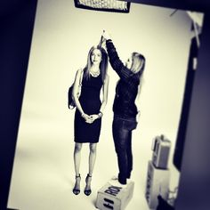 Celebrity Hairstylist Sarah Potempa, behind the scenes! #hair #hairstylist #model #photoshoot