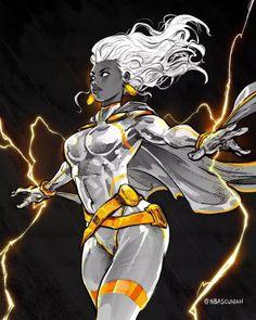 Storm Xmen, Storm Marvel, Comic Books Art, Comic Art, Book Art, Arte Grunge, Images Star Wars, Black Comics, Marvel Comic Universe