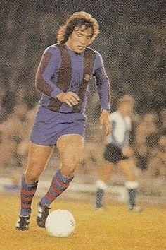 Juan Carlos 'Milonguita' Heredia en acción. Uno de los 'barçargentinos' destacados en los setentas.