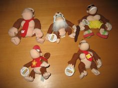 Donkey Kong Nintendo 64 Collectibles Official Plush Lot Rare Funky Diddy Cranky