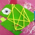 Deep Space Sparkle – Cardboard Fish and Owl Art Project