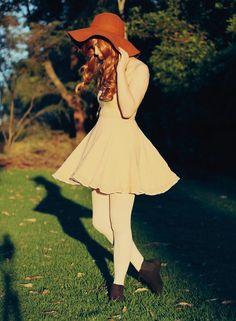 Gorgeous photo, adorable ensemble, beautiful hair.