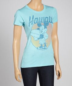 Take a look at this Frost 'Hawaii' Mickey Mouse Tee by Junk Food on #zulily today!