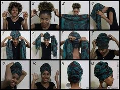 turbante acessorio da moda afro - The world's most private search engine Pelo Natural, Natural Hair Tips, Natural Hair Styles, Moda Afro, African Head Wraps, Head Wrap Scarf, How To Wear Scarves, Bad Hair Day, Scarf Hairstyles