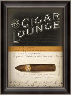 "The Cigar Lounge MDF (Medium Density Fibre Board) Frame. By Spicher and Company.Dimensions (in):21 3/8"""" X 28 3/8""""Ships out in 5-10 Business Days.Estimated Delivery Time 10-14 Business Days. Please b"