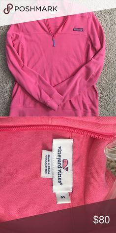 PRICE DROP: Vineyard Vines Shep Shirt pullover Hot pink ladies small quarter zip vineyard vines Shep shirt pullover. Super comfy. * can do 65 on venmo* Vineyard Vines Other