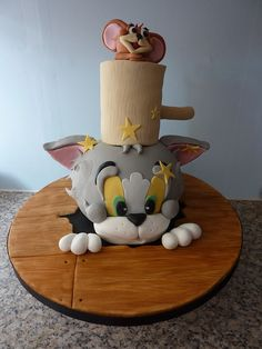 Tom and Jerry cake                                                                                                            Tom and Jerry cake             by        traceybestcakes (not enough hours in the day)      on        Flickr