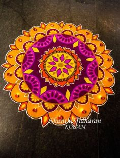 New flowers drawing simple cartoon Ideas Indian Rangoli Designs, Rangoli Designs Latest, Simple Rangoli Designs Images, Small Rangoli Design, Rangoli Border Designs, Colorful Rangoli Designs, Beautiful Rangoli Designs, Kolam Designs, Mandala Design