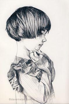 Art Inspiration: Beautiful Drawing By David Malan. Life Drawing, Figure Drawing, Drawing Sketches, Painting & Drawing, Art Drawings, Sketching, Drawing Ideas, Portrait Au Crayon, Illustration Art