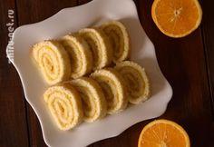 апельсиновый рулет по дюкану
