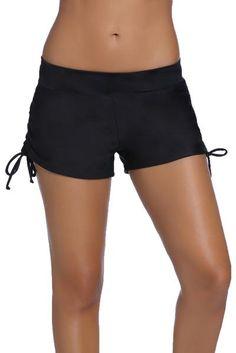 3c777bc0ffb Black Ruched Side Swimsuit Bottom. Tankini ShortyTankini With ShortsWomen s  ...
