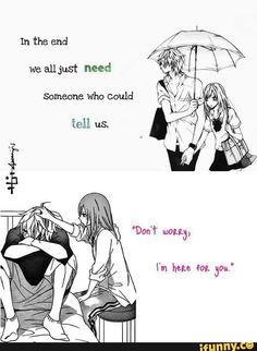 Anime and Manga Fandom Sad Anime Quotes, Manga Quotes, Cute Love Quotes, Quotes Deep Feelings, Mood Quotes, Cute Comics, Heartfelt Quotes, Anime Life, Cute Anime Couples