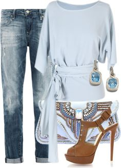 """""""Cool Blue"""" by lbite1 on Polyvore"""