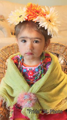 My daughter dressed up as #Frida Kahlo for #halloween