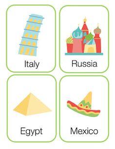 Around the world preschool printable