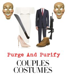 """""""The purge couples costume """" by jordancarmel ❤ liked on Polyvore featuring WearAll, Barneys New York, Z Zegna and Nunn Bush"""