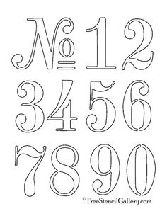 35 inch old typeface numbers stencil set no 25 from artistic make a stensil for kids to use to write numbers and letters spiritdancerdesigns Choice Image