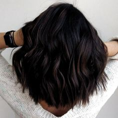 Top 100 hair color trends for brunettes 2019 Page 04 # SummerNa… . Brunette Hair Color With Highlights, Fall Hair Color For Brunettes, Dark Brunette Hair, Fall Hair Colors, Hair Color For Black Hair, Brown Hair Colors, Hair Highlights, Brunette Color, Dark Hair