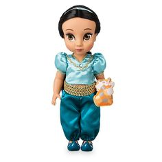 Designed by our Disney Animators, this gorgeous Princess Jasmine Animator Doll depicts the princess as a little girl. She features a beautiful satin outfit and is kept company by a mini soft toy Rajah. Disney Barbie Dolls, Disney Princess Dolls, Disney Animator Doll, Disney Animators Collection Dolls, Collection Disney, Disney Jasmine, Princess Jasmine, Ariel Disney, Rapunzel