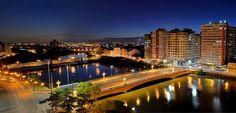 Recife á noite, ponte Duarte Coelho sobre o Rio Capibaribe, PE - Eu Amo o Recife - Fb
