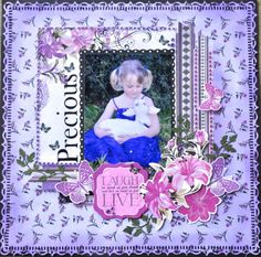 Made using the Violet Crush Collection from Kaisercraft. By Kelly-ann Oosterbeek. Scrapbook Page Layouts, Scrapbook Pages, Kids Pages, Wedding Scrapbook, Layout Inspiration, Scrapbooks, Origami, Paper Crafts, November 2015
