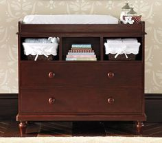 You'll definitely need to have a changing table...like this one