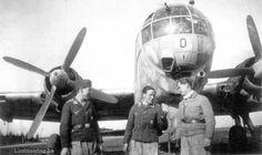 Heinkel He 177 A-5 and a German Luftwaffe ground crew.