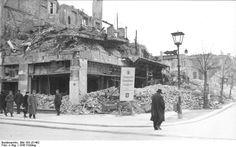 """1945 zerstoertes Café """"Kranzler"""" Friedrichstrasse Ecke Unter den Linden"""