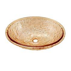 JSG Oceana Undermount Bathroom Sink in Champagne Gold