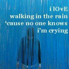 no one knows i'm craying...