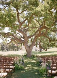 Aisle design - the perfect spot to say I do. Ojai Wedding from Aaron Delesie, Mindy Rice + Lisa Vorce | Style Me Pretty