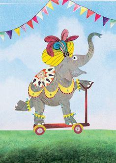 Ansichtkaart olifant   Grootzus