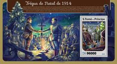 ST16416b Christmas truce (Christmas truce, 1914) Christmas Truce, Christmas Cards, Stamps, Painting, Art, Yule, Christmas Greetings Cards, Seals, Xmas Cards